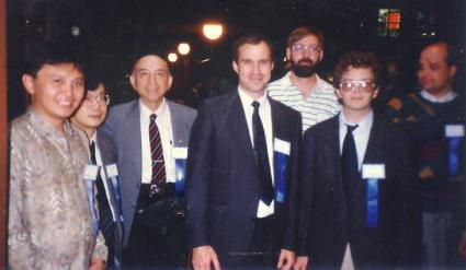 Armein, unknown, Prof Lofti Zadeh, Tom. Geoff, Warren, dan Ken, Di UC Berkeley 1993