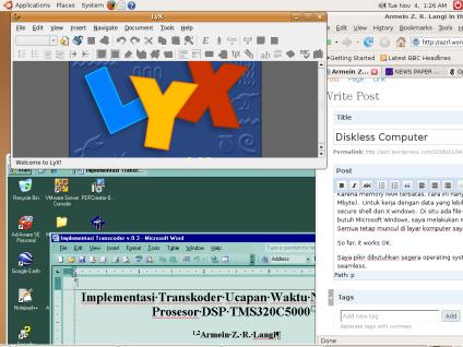 Ubuntu server, windows server dari Live CD terminal